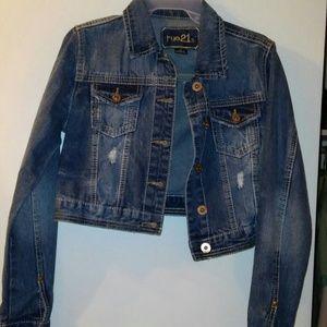 Rue 21 distressed denim jacket